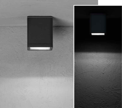 MISAM SQ Ceiling-mounted luminaire mono-directional 8W 670lm