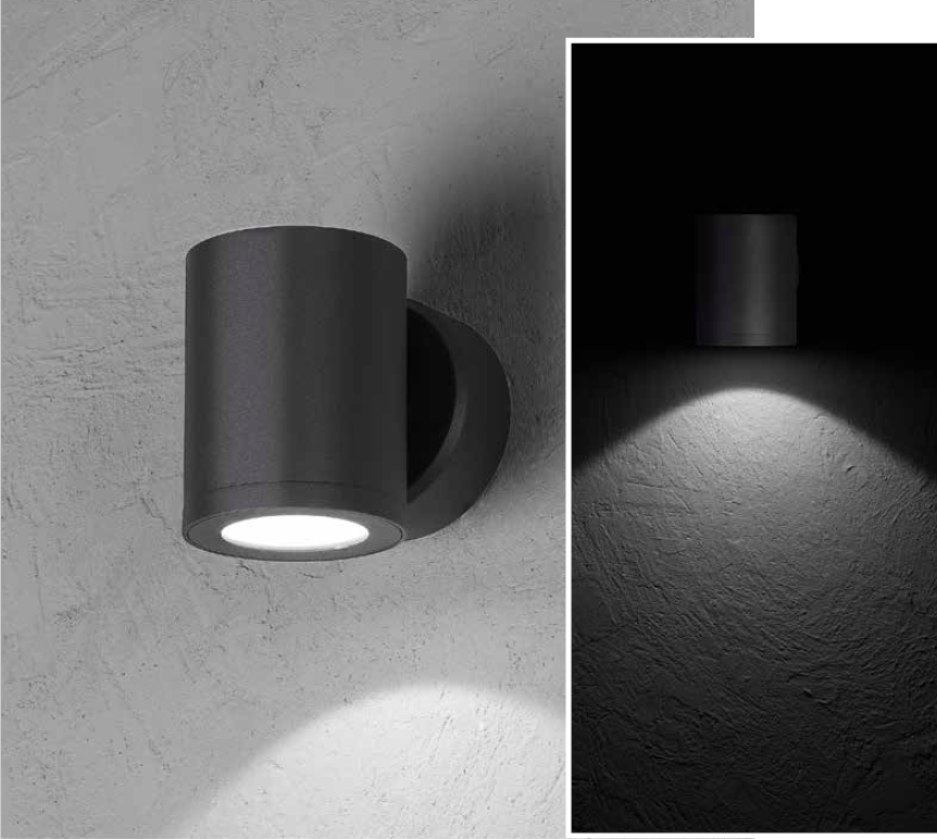 MISAM RD Wall-mounted luminaire mono-directional 8W 670lm