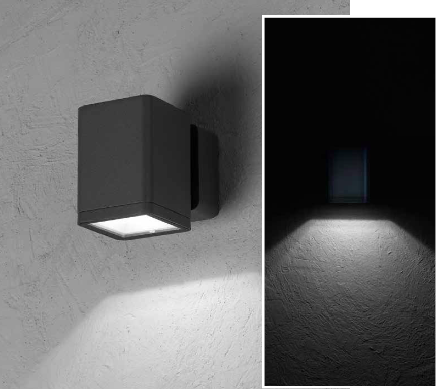 MISAM SQ Wall-mounted luminaire mono-directional 8W 670lm