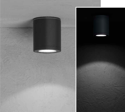 MISAM RD Ceiling-mounted luminaire mono-directional 8W 670lm