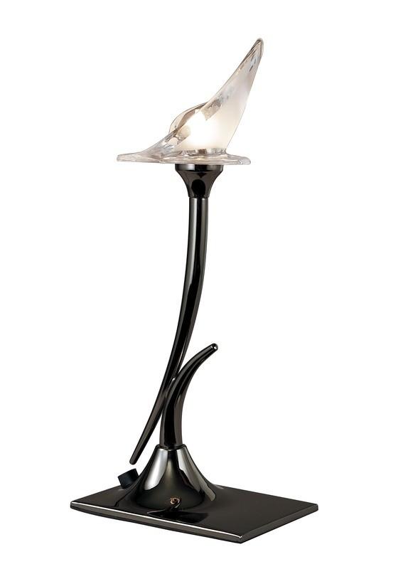 Flavia Table Lamp 1 Light G9, Black Chrome