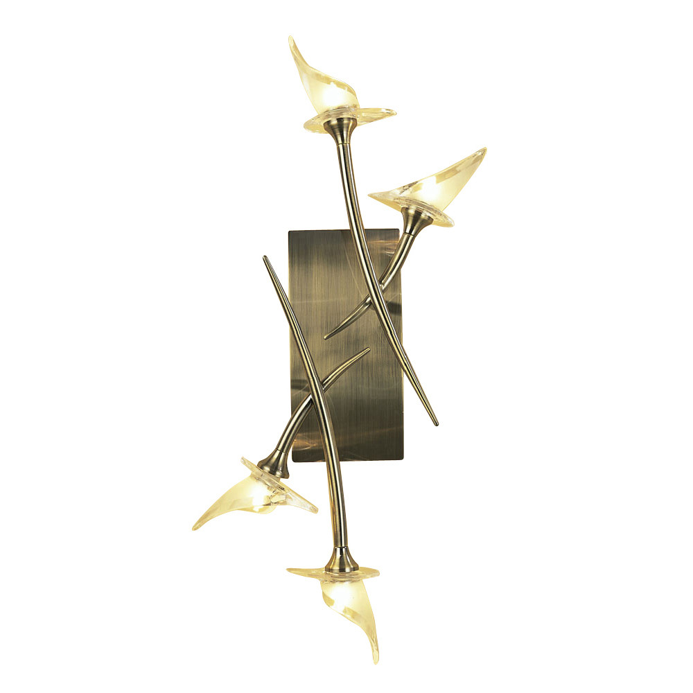 Flavia Ceiling/Wall 4 Light G9, Antique Brass