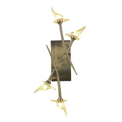 Flavia Ceiling/Wall 4 Light G9, Antique Brass