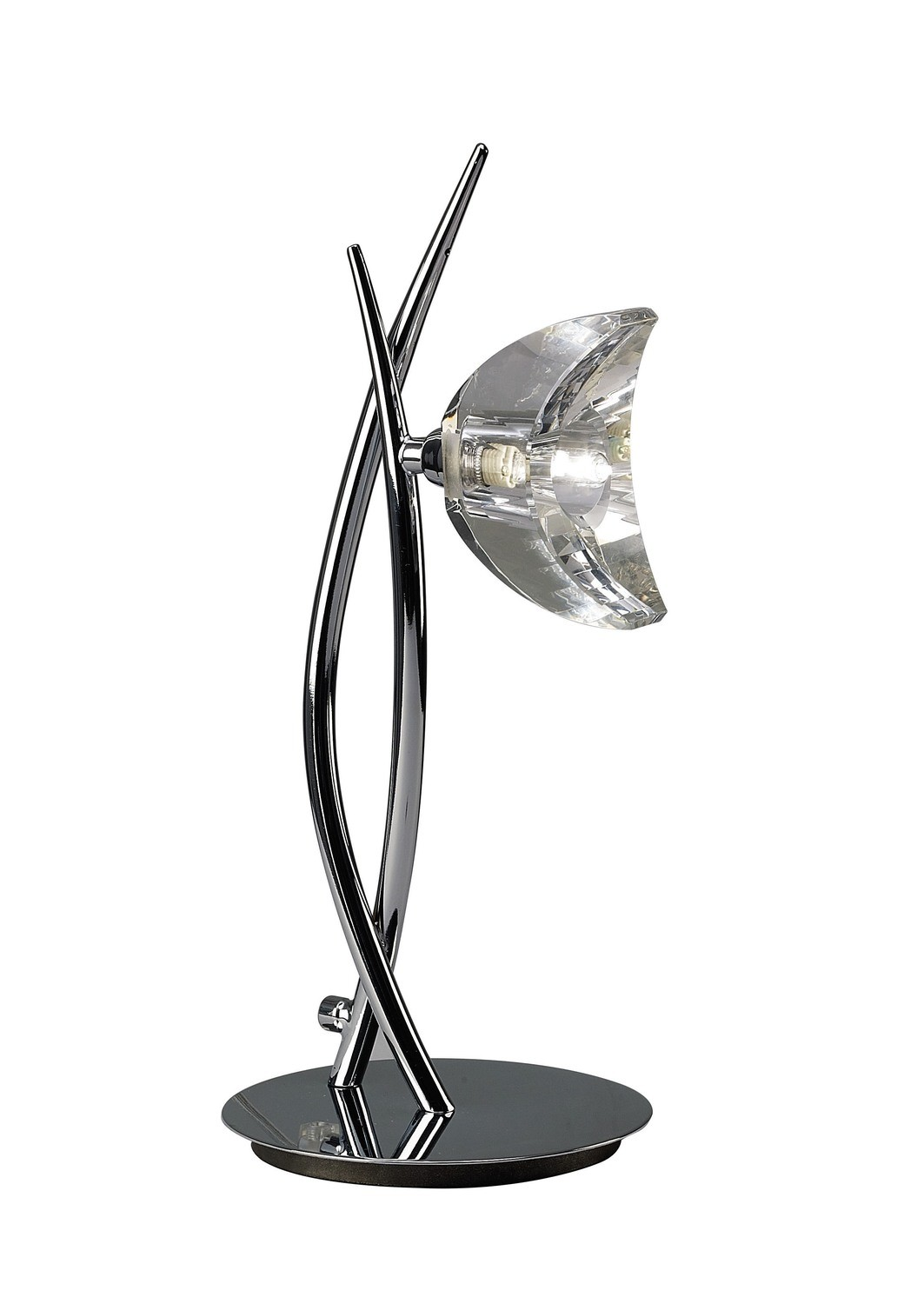 Eclipse Tall Table Lamp 1 Light G9, Polished Chrome