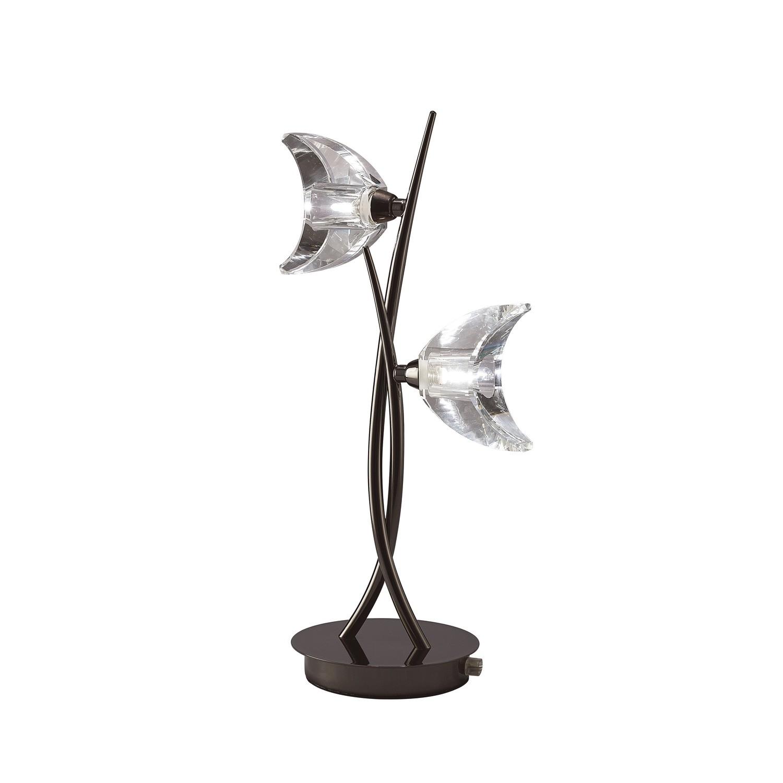 Eclipse Table Lamp 2 Light G9, Black Chrome