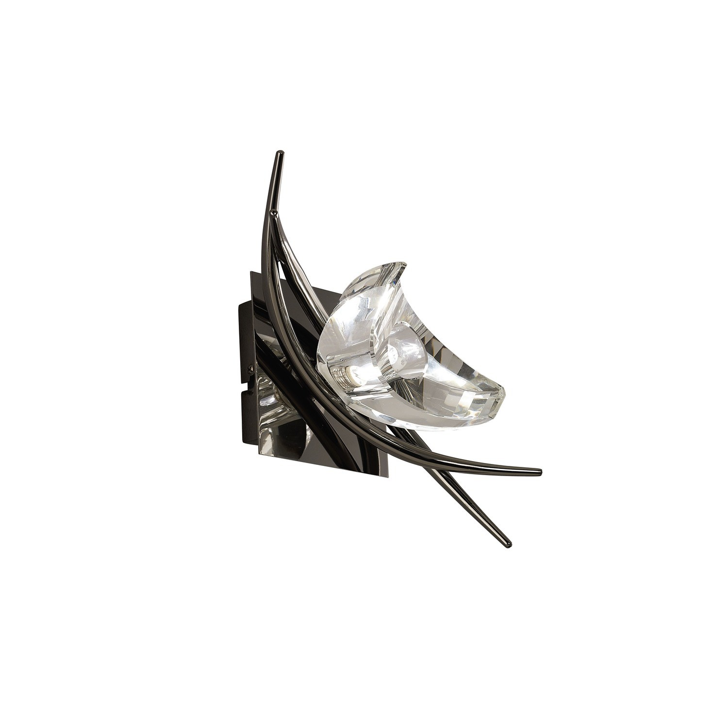 Eclipse Wall Lamp Switched 1 Light G9, Black Chrome