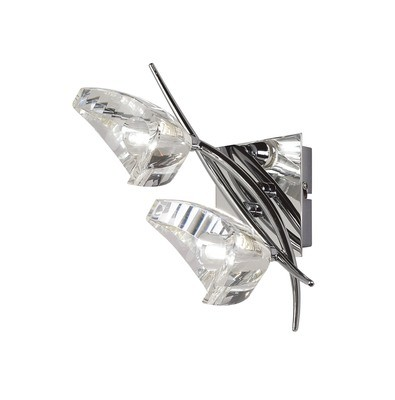 Eclipse Wall Lamp Switched 2 Light G9, Polished Chrome
