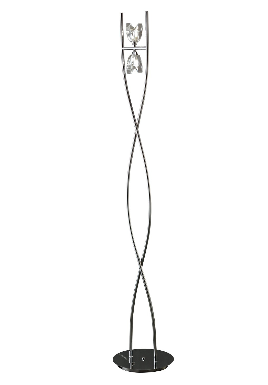 Eclipse Floor Lamp 2 Light G9, Polished Chrome