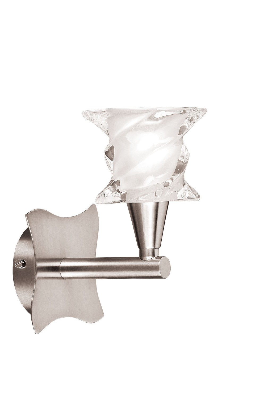 Salomon Wall Lamp Switched 1 Light G9, Satin Nickel