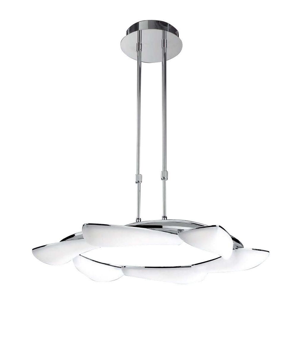 Mistral Telescopic 36W LED Round 3000K, 3240lm, Polished Chrome/Frosted Acrylic, 3yrs Warranty
