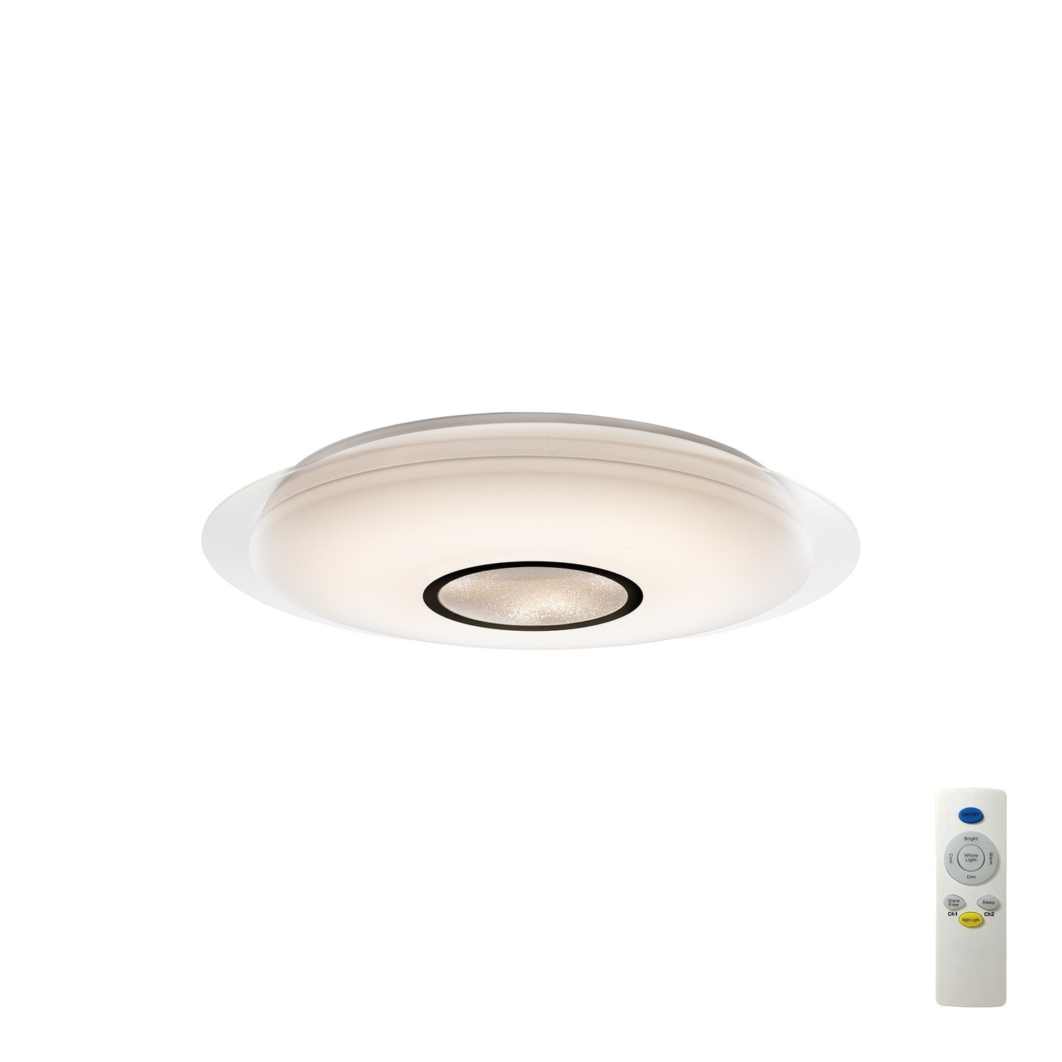 Mantra M3694 Maldivas 40W Tuneable White 3000K-6000K, 2800lm, Dimmable Flush Fitting With Remote Control