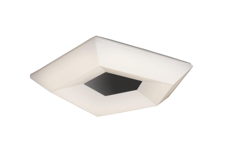 City Ceiling 19W LED Small 3000K 1900lm, Polished Chrome/White Acrylic