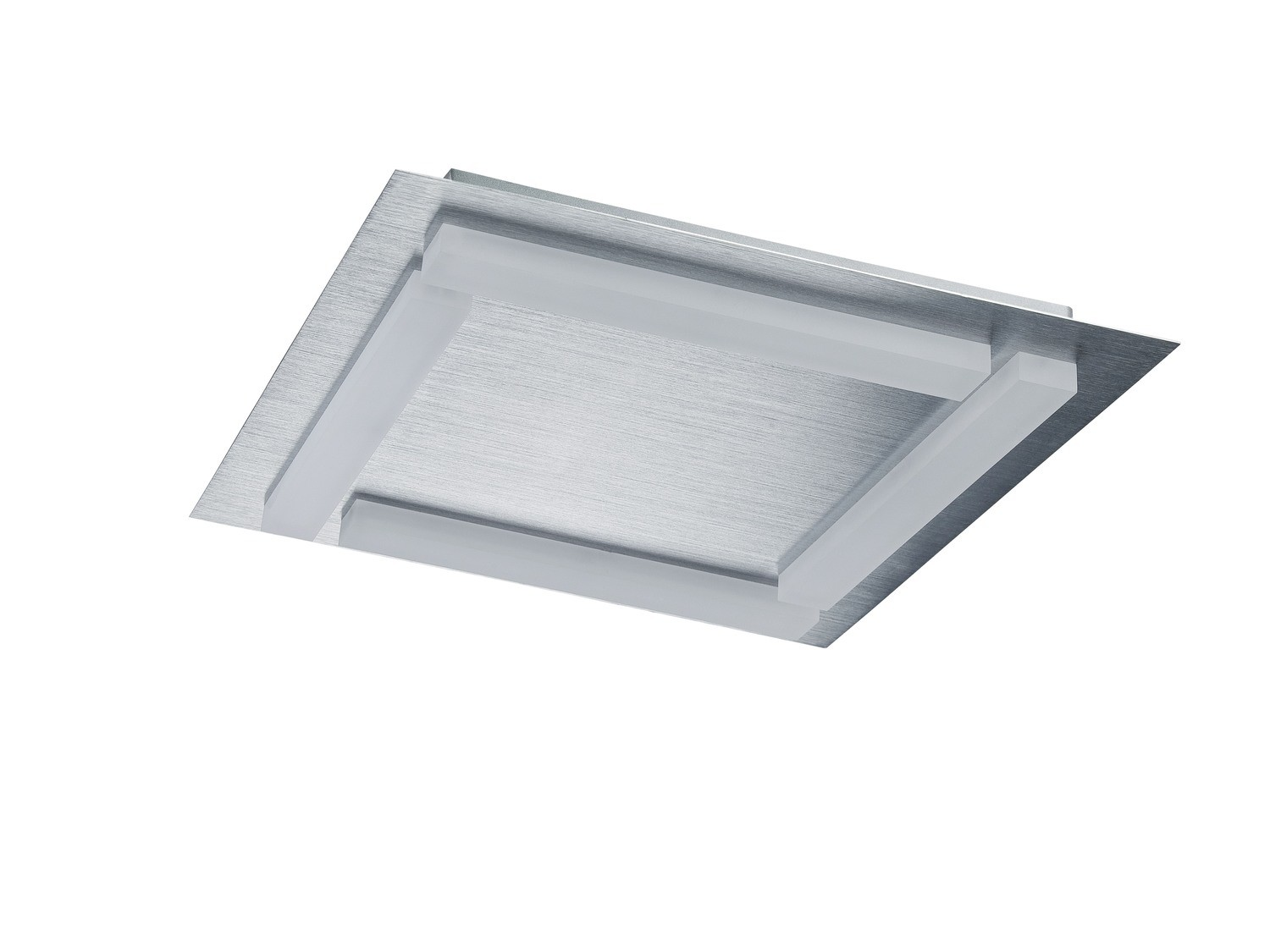 Verona Ceiling 4 Light 20W LED 3000K, 1800lm, Satin Aluminium/Frosted Acrylic, 3yrs Warranty