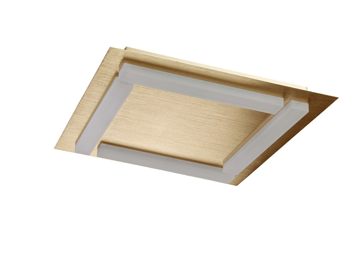 Verona Ceiling 4 Light 20W LED 3000K, 1800lm, Satin Gold/Frosted Acrylic, 3yrs Warranty