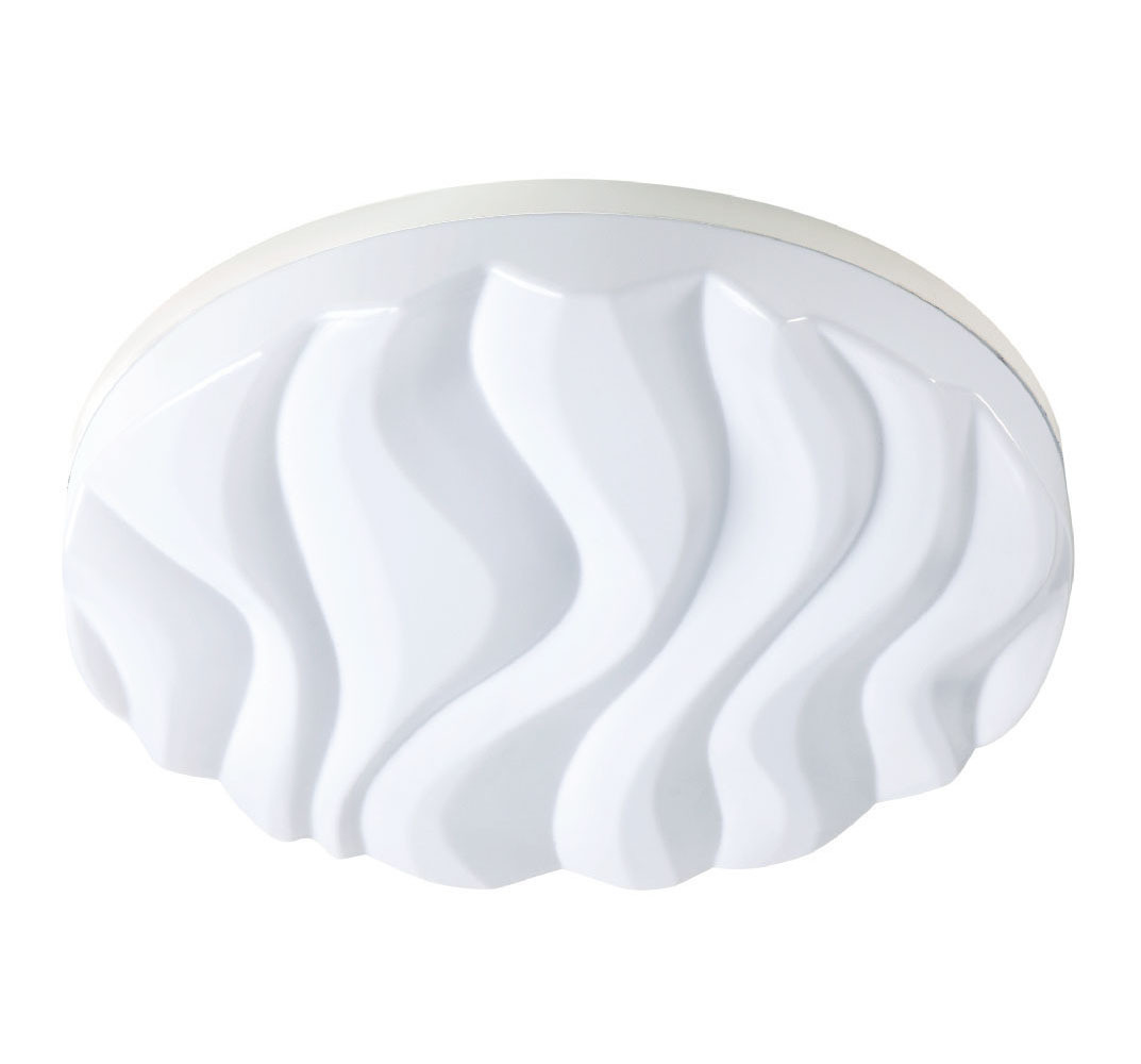 Arena Ceiling/Wall Light Large Round 45W LED IP44 3000K, 4050lm, Matt White/White Acrylic, 3yrs Warranty
