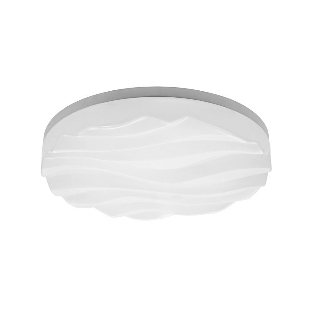 Arena Ceiling/Wall Light Medium Round 36W LED IP44 3000K, 3240lm, Matt White/White Acrylic, 3yrs Warranty