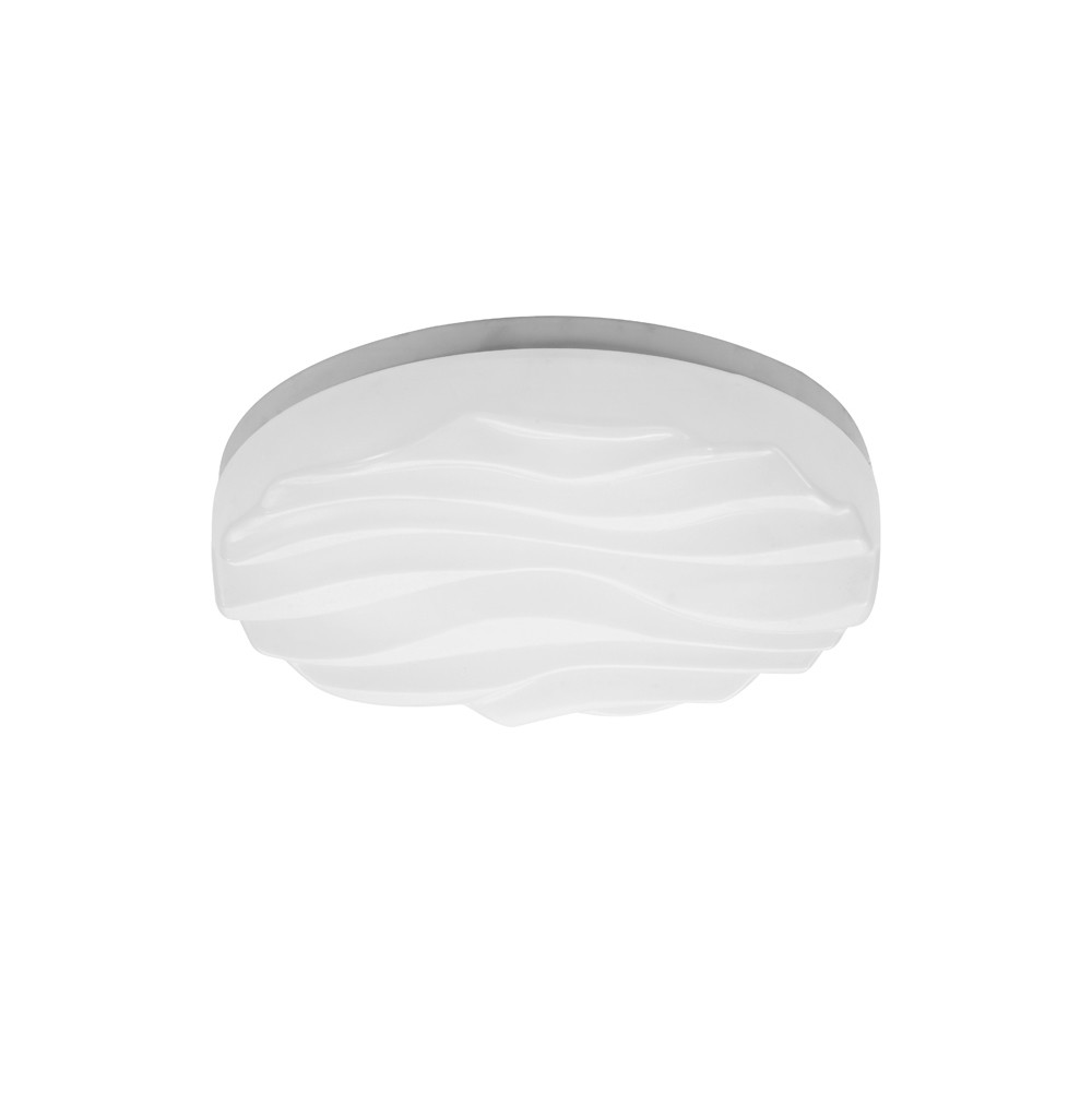 Arena Ceiling/Wall Light Small Round 24W LED IP44 3000K, 2160lm, Matt White/White Acrylic, 3yrs Warranty