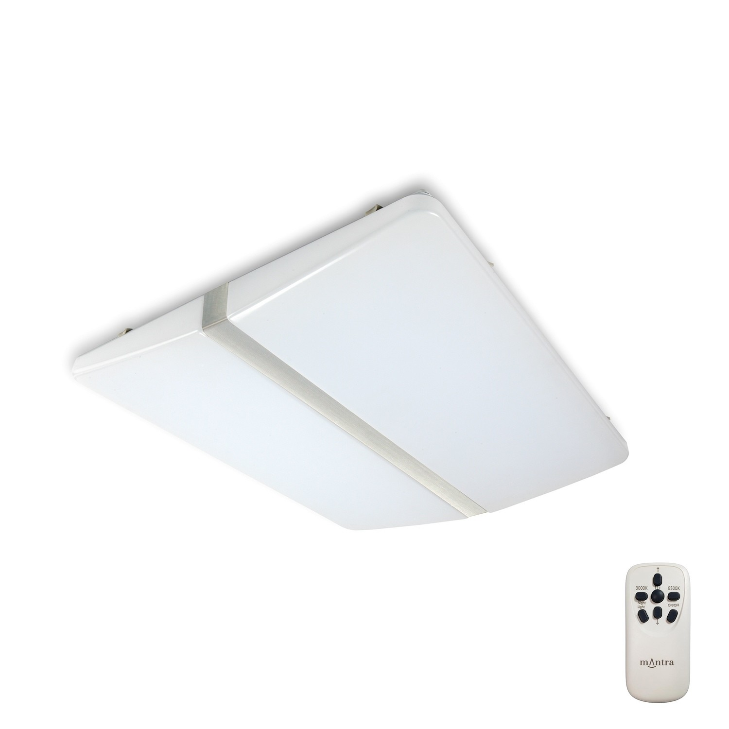 Line Ceiling 108W LED Square With Remote Control 3000-6500K, 6500lm, Polished Chrome/White Acrylic, 3yrs Warranty