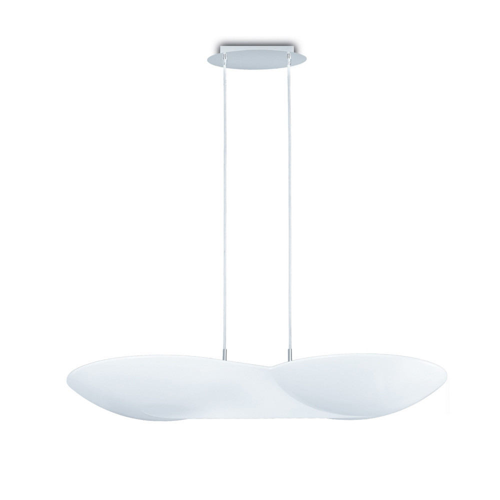 Flow Pendant 6 Light GU10, Chrome / White
