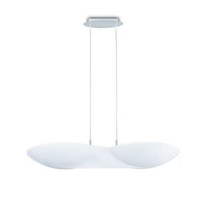 Flow Pendant 6 Light GU10, Chrome / White