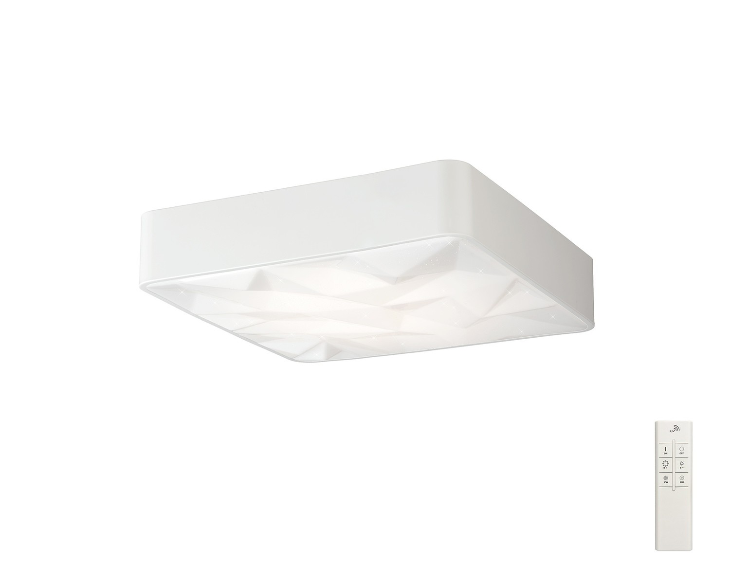 Rombos Flush 50cm Square 40W LED 3000-6500K Tuneable, 3100lm, Remote Control White, 3yrs Warranty