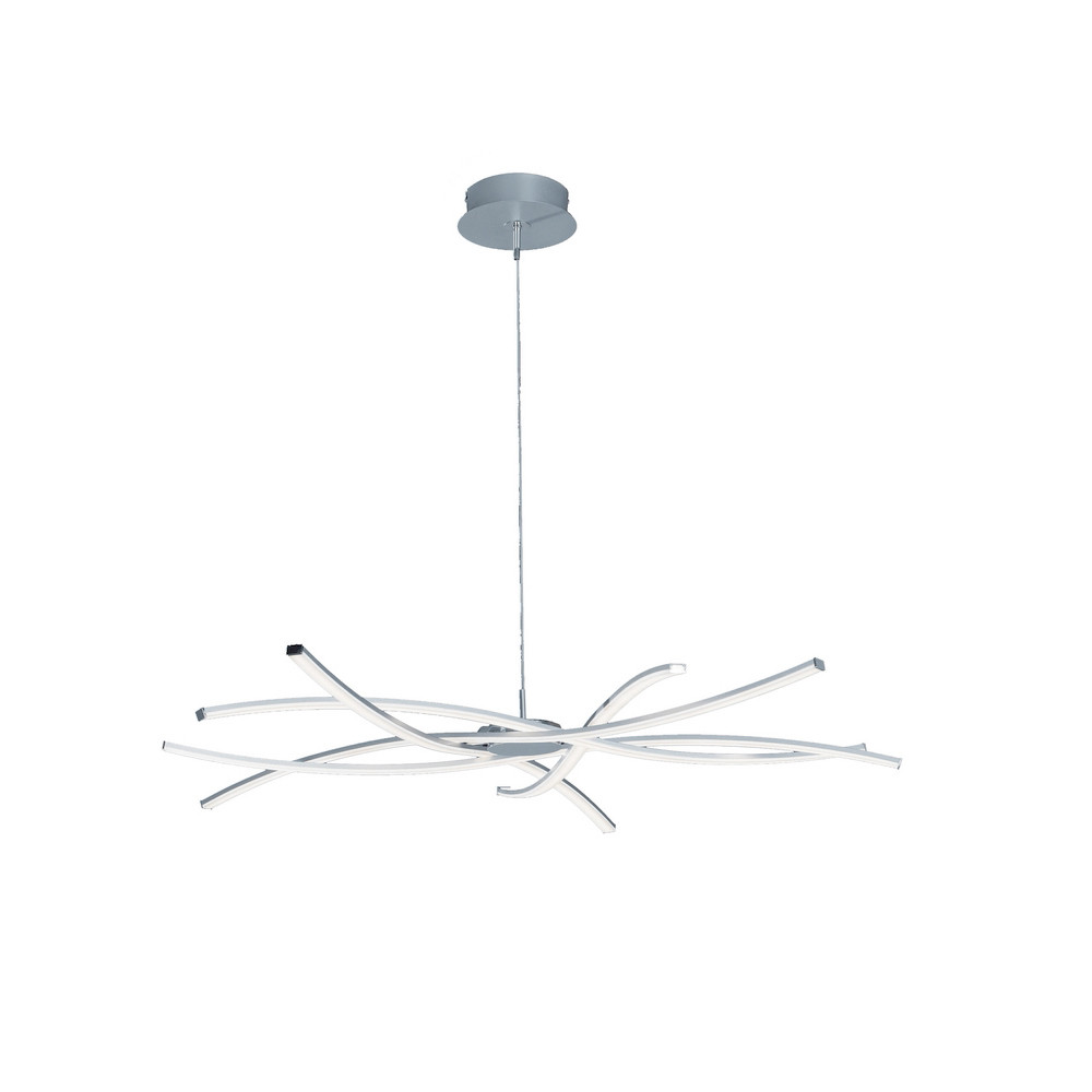 Aire LED Pendant 100cm Round 60W 3000K, 4800lm, Dimmable Silver/Frosted Acrylic/Polished Chrome, 3yrs Warranty