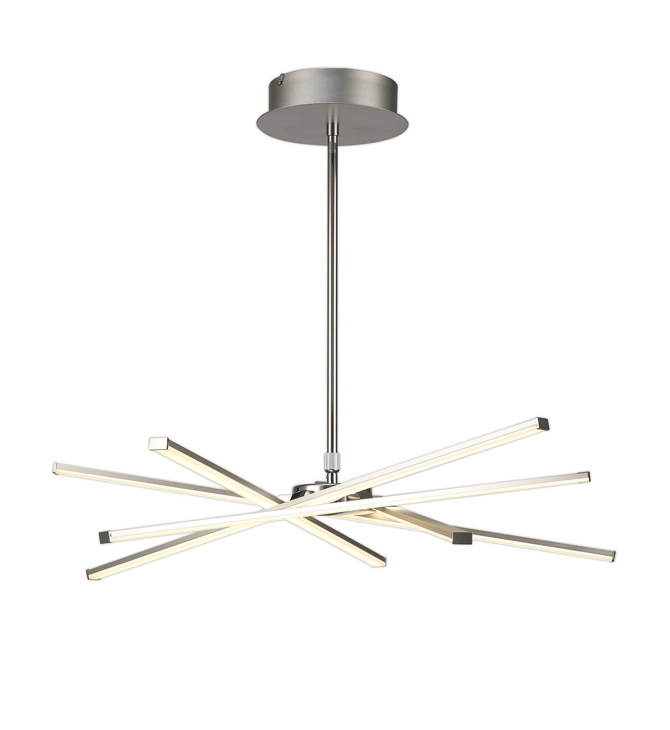 Star LED Pendant 69cm Round 42W 3000K, 3700lm, Dimmable Silver/Frosted Acrylic/Polished Chrome, 3yrs Warranty