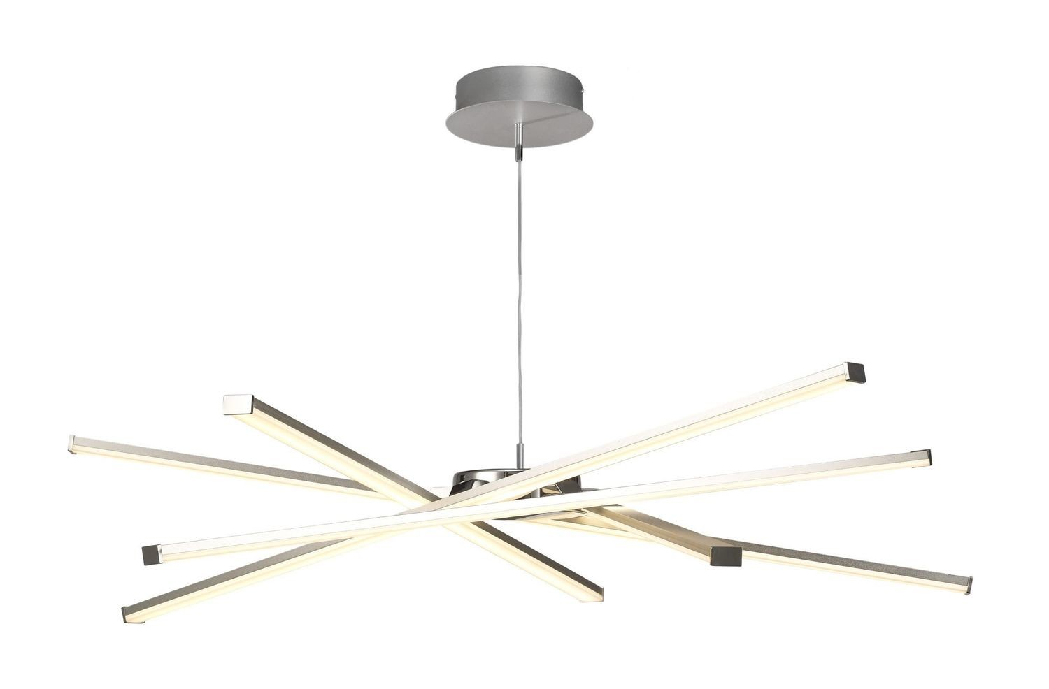 Star LED Pendant 69cm Round 42W 3000K, 3700lm, Silver/Frosted Acrylic/Polished Chrome, 3yrs Warranty