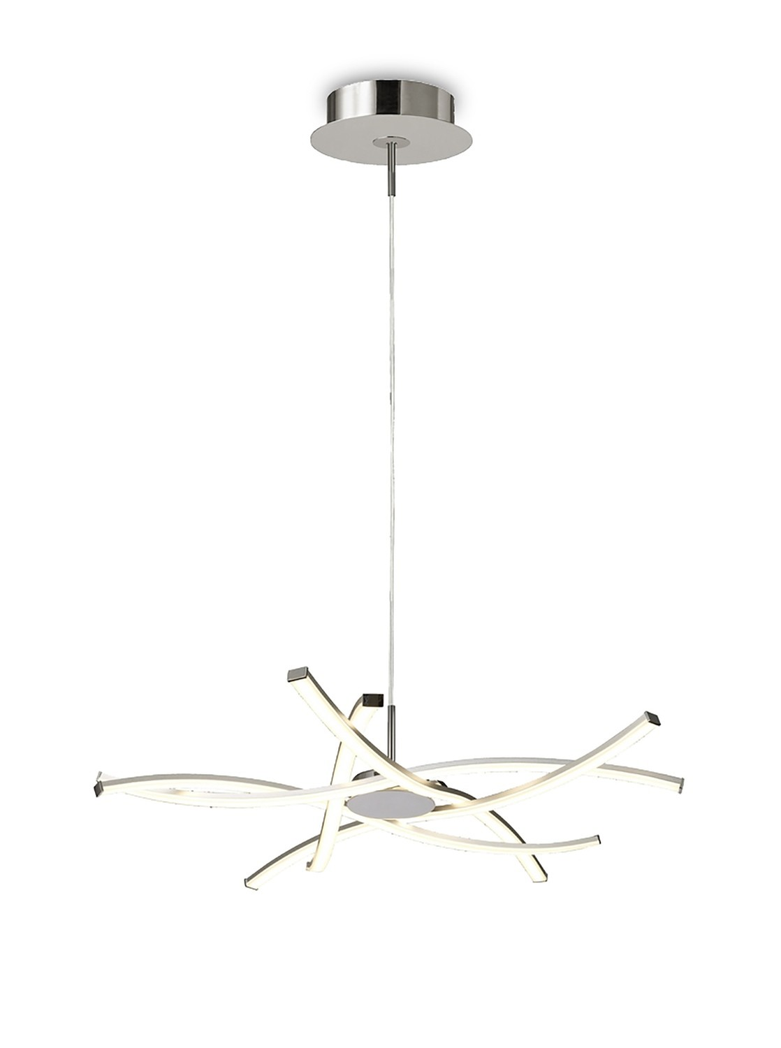 Aire LED Pendant 69cm Round 42W 3000K, 3700lm, Silver/Frosted Acrylic/Polished Chrome