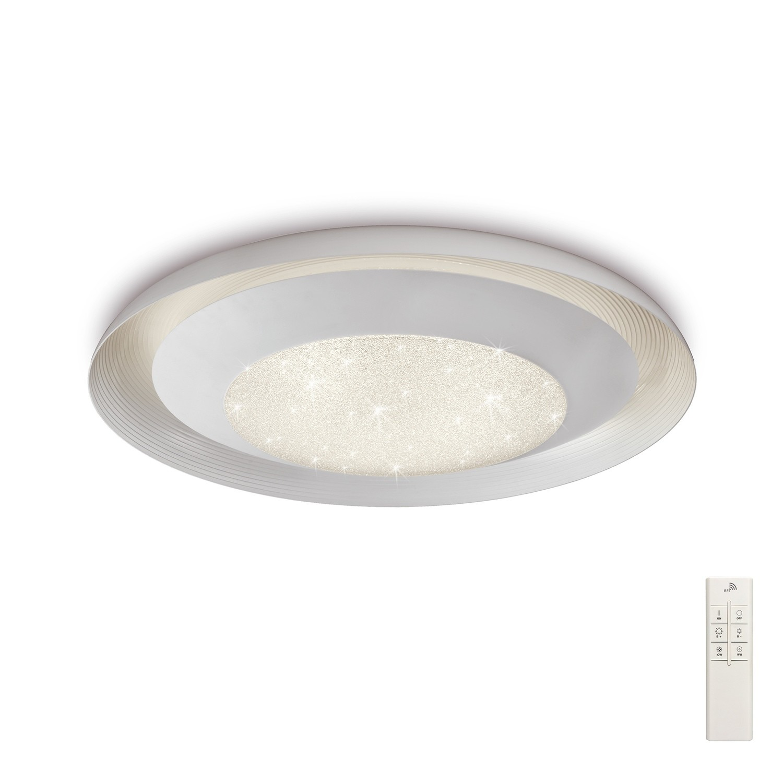 Ari Flush 76cm Round 40W LED 3000-6500K Tuneable, 3200lm, Remote Control White