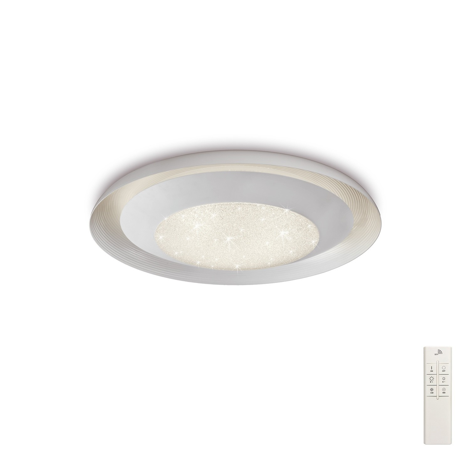 Ari Flush 49.5cm Round 24W LED 3000-6500K Tuneable, 1920lm, Remote Control White