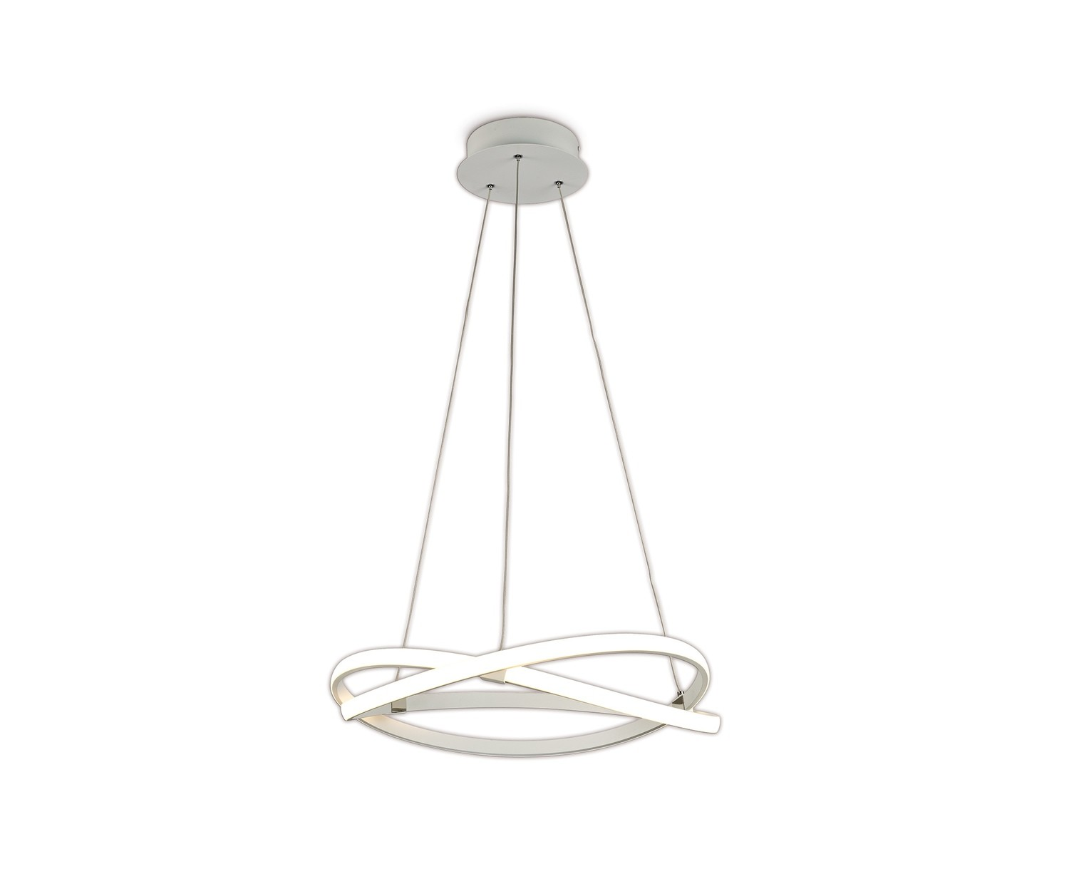 Infinity Blanco Pendant 42W LED 3000K, 3400lm, Dimmable White/White Acrylic