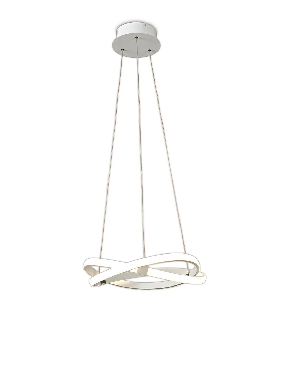 Infinity Blanco Pendant 30W LED 3000K, 2500lm, White/White Acrylic