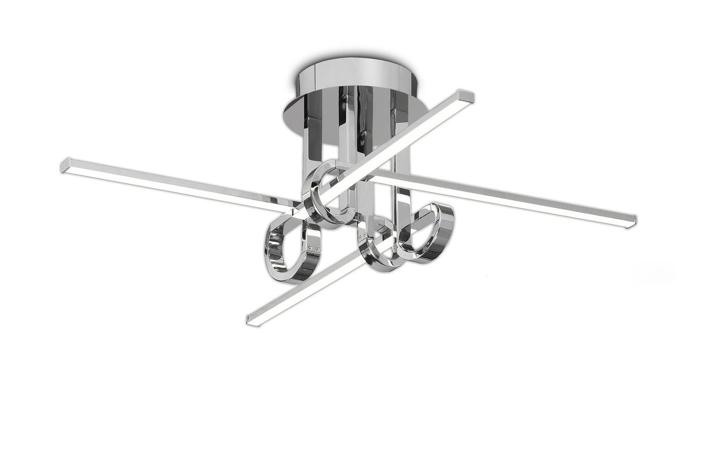 Cinto Ceiling 28W LED, 3000K, 2250lm, Polished Chrome, 3yrs Warranty