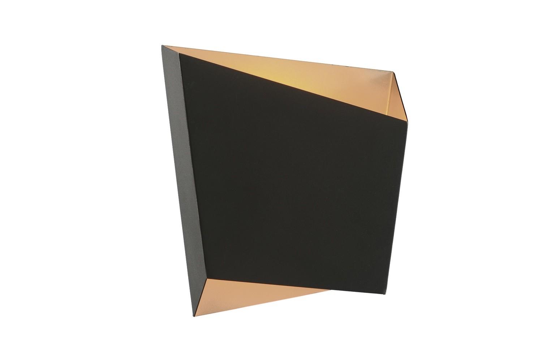 Rhombus Asymmetric Wall Light LED Rhombus 9W Black/Gold