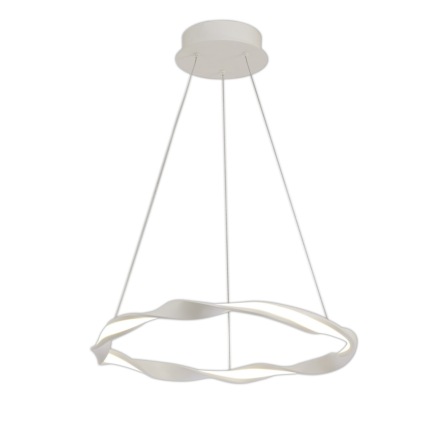 Madagascar Pendant, 24W LED, 3000K, 1680lm, IP20, Sand White, 3yrs Warranty