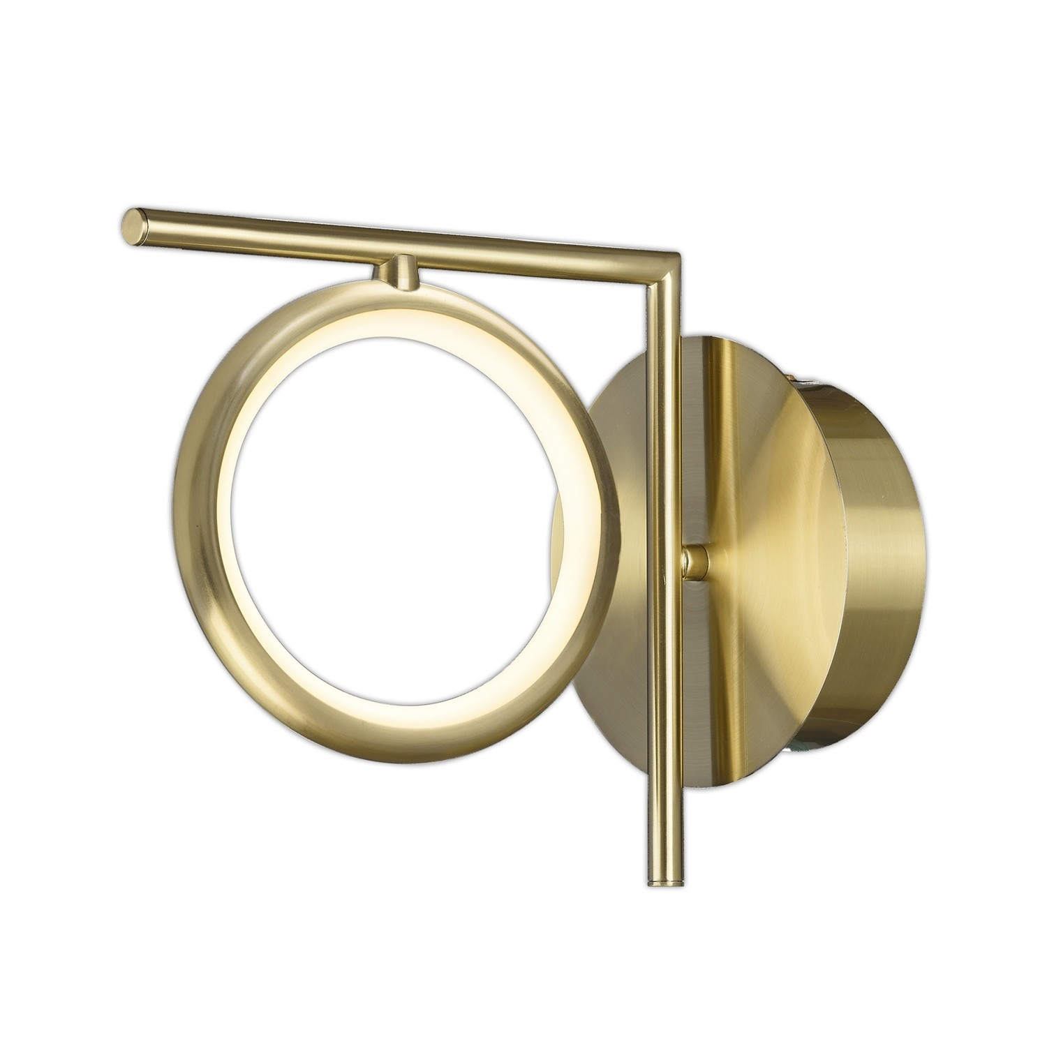 Olimpia Wall Lamp, 8W LED, 3000K, 600lm, IP20, Satin Gold, 3yrs Warranty