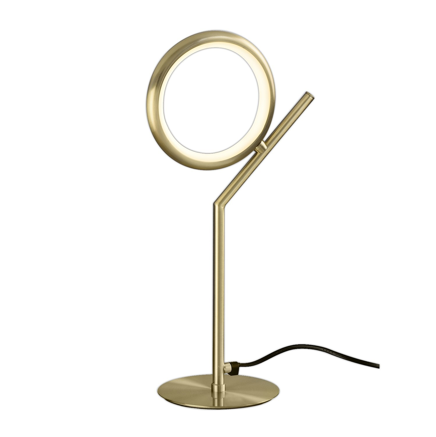 Olimpia Table Lamp, 8W LED, 3000K, 600lm, IP20, Satin Gold, 3yrs Warranty
