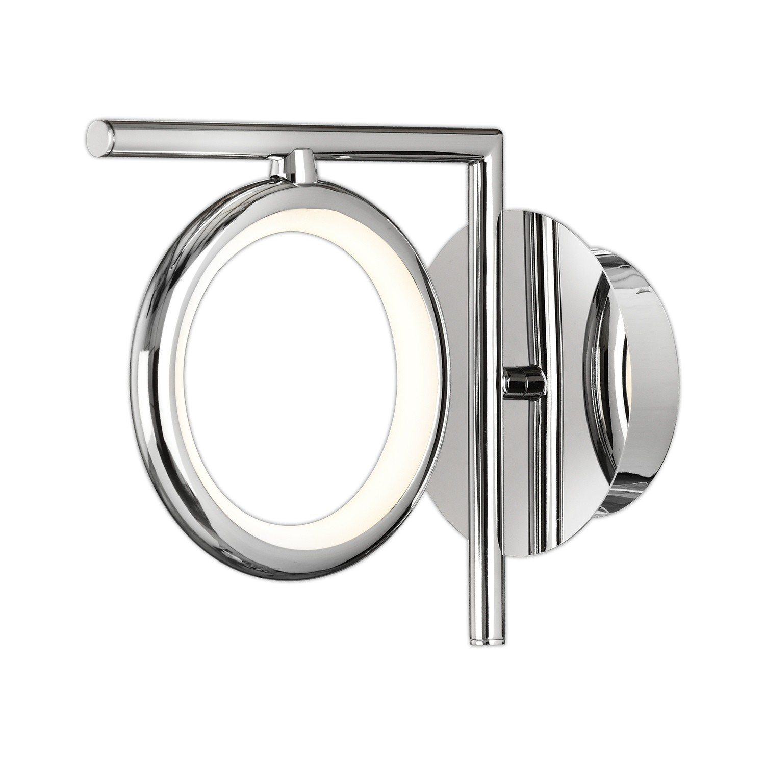 Olimpia Wall Lamp, 8W LED, 3000K, 600lm, IP20, Chrome, 3yrs Warranty
