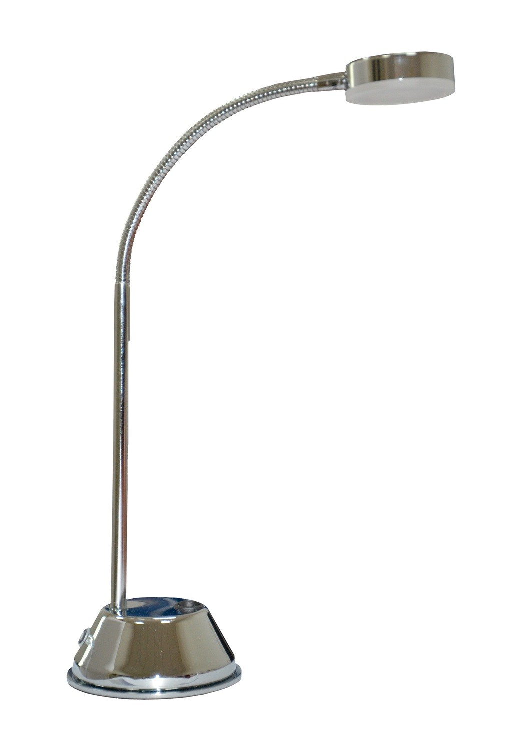 Tobias Table Lamp 1 Light 3W LED 3000K, 300lm, Polished Chrome/Frosted Acrylic, 3yrs Warranty