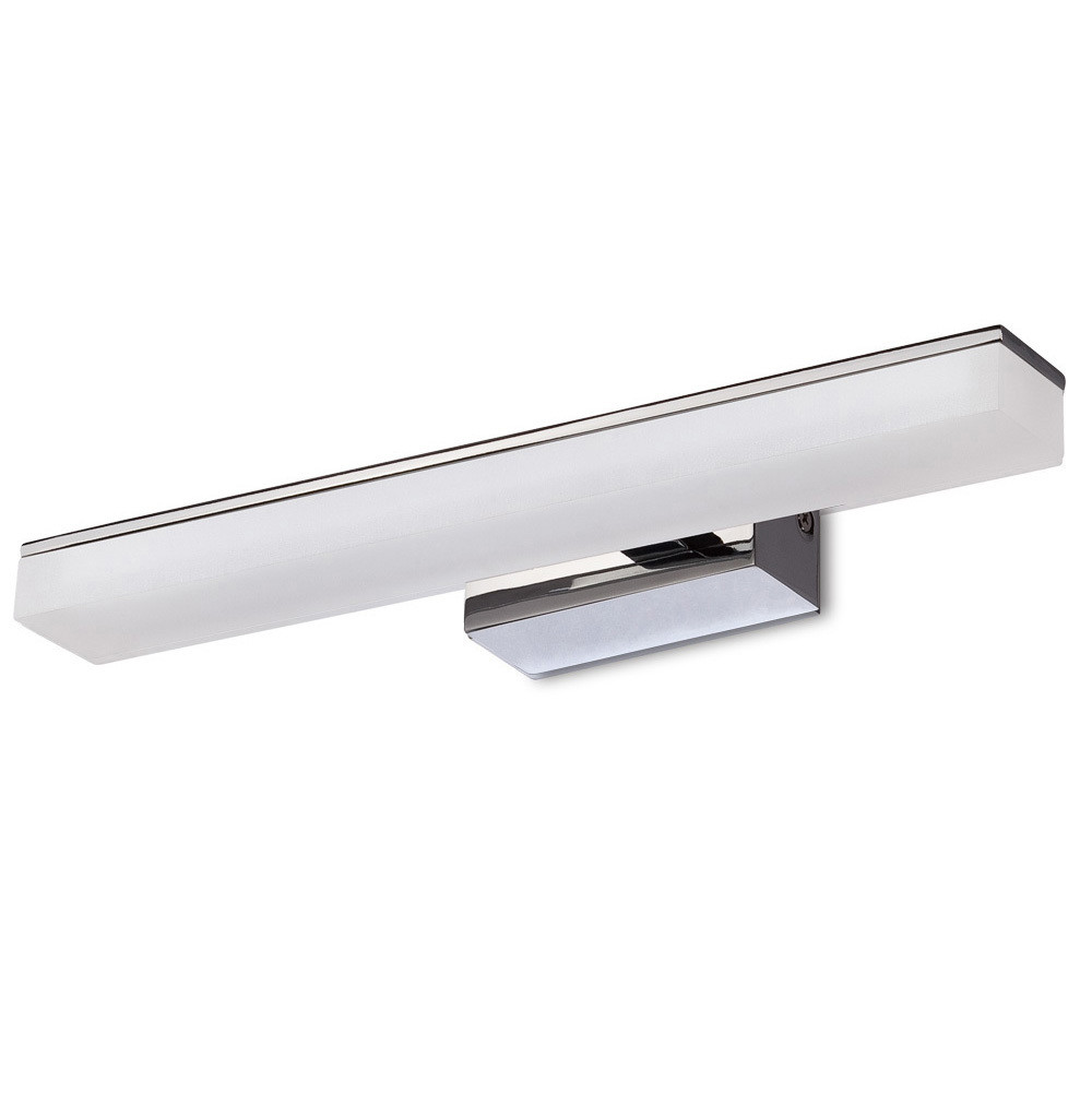 Taccía Wall Lamp 5W LED Small 3000K, 450lm, Polished Chrome/Frosted Acrylic, 3yrs Warranty