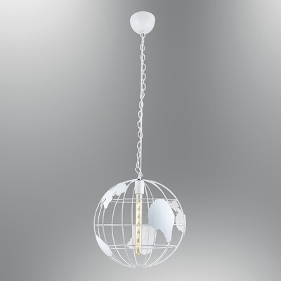 World pendant luminaire included linear led filament lightbulb 4W