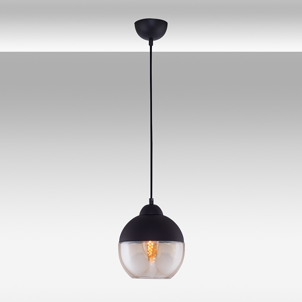 Blacky ball pendant luminarie 1XE27