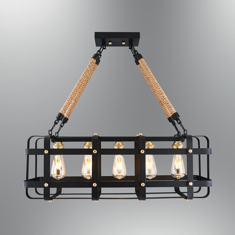 GABBIA SQ pendant luminaire Included 5x spiral LED filament Bulb 4W