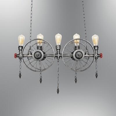 Carozza 5 light pendant luminaire included spiral LED filament bulb 4W