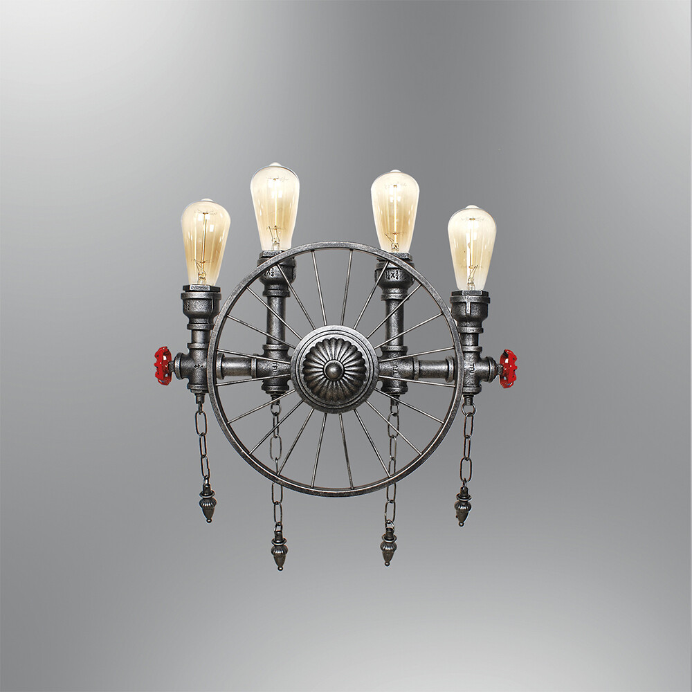 Carozza 4 light wall luminaire included spiral LED filament bulb 4W