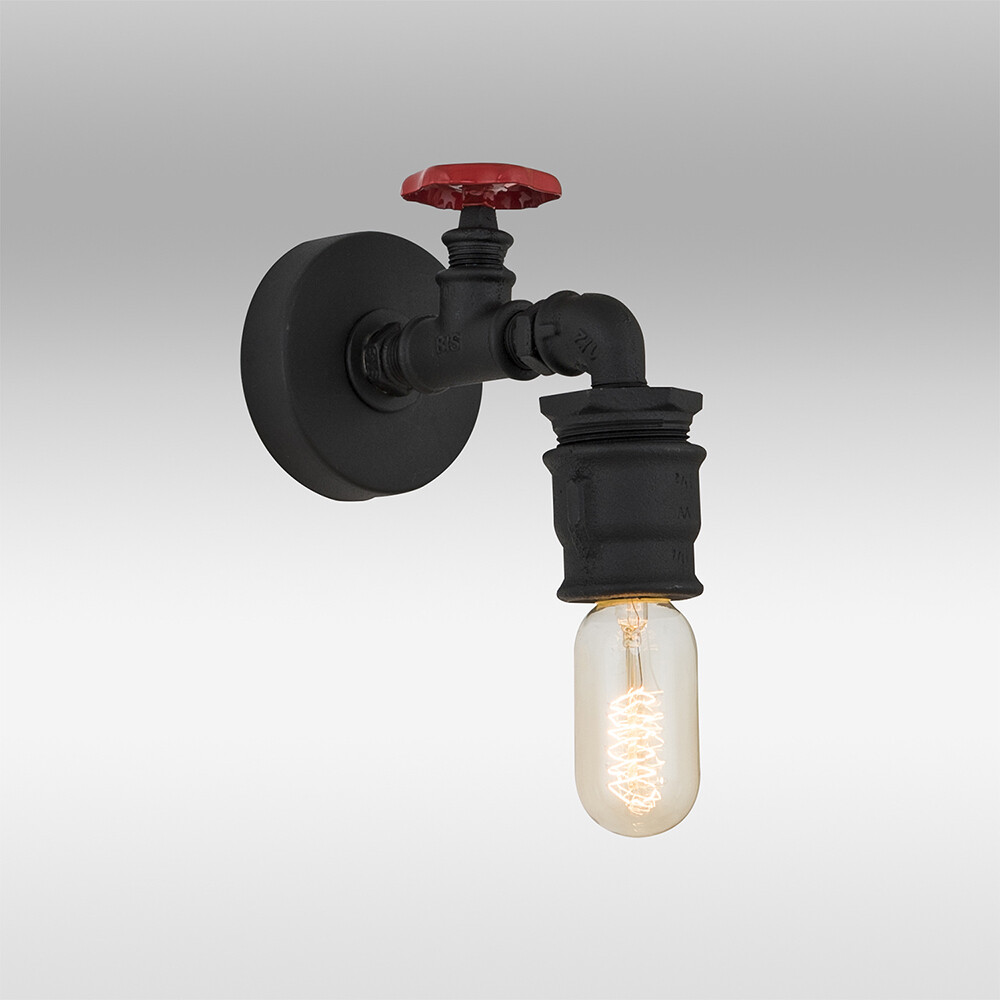 Pipes screw wall lamp included LED filament Bulb 4W