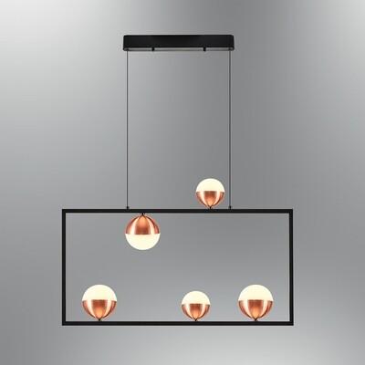pallaquadro front 5 LED pendant luminaire