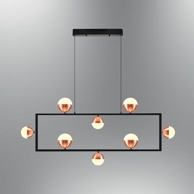 pallaquadro front 8 LED pendant luminaire