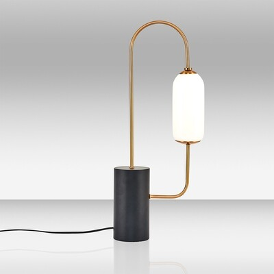 kiara once table lamp black gold